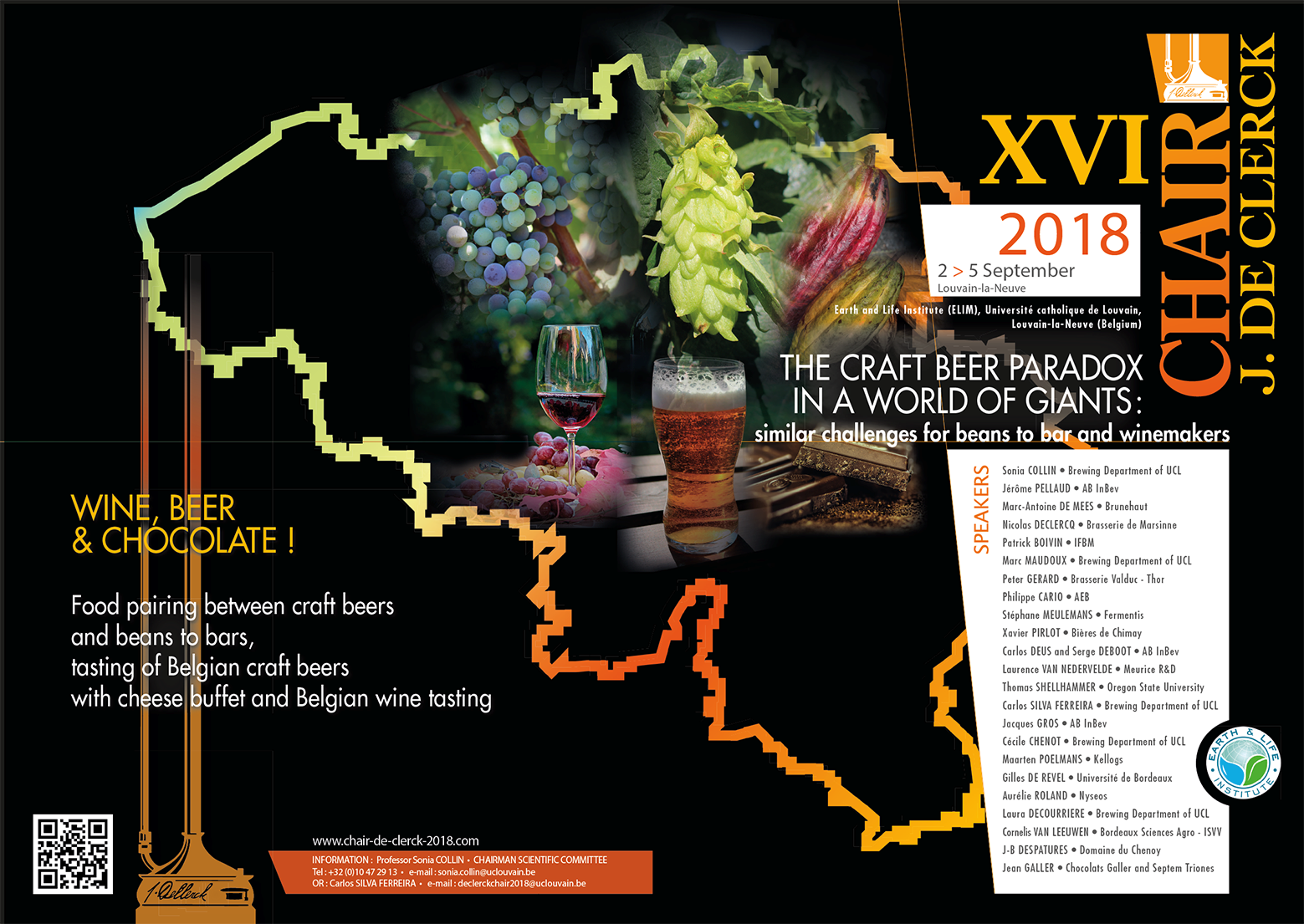 "Chair de Clerck ""The craft beer paradox in a world of giant"", 02-05 September, Louvain-la-Neuve, Belgium"