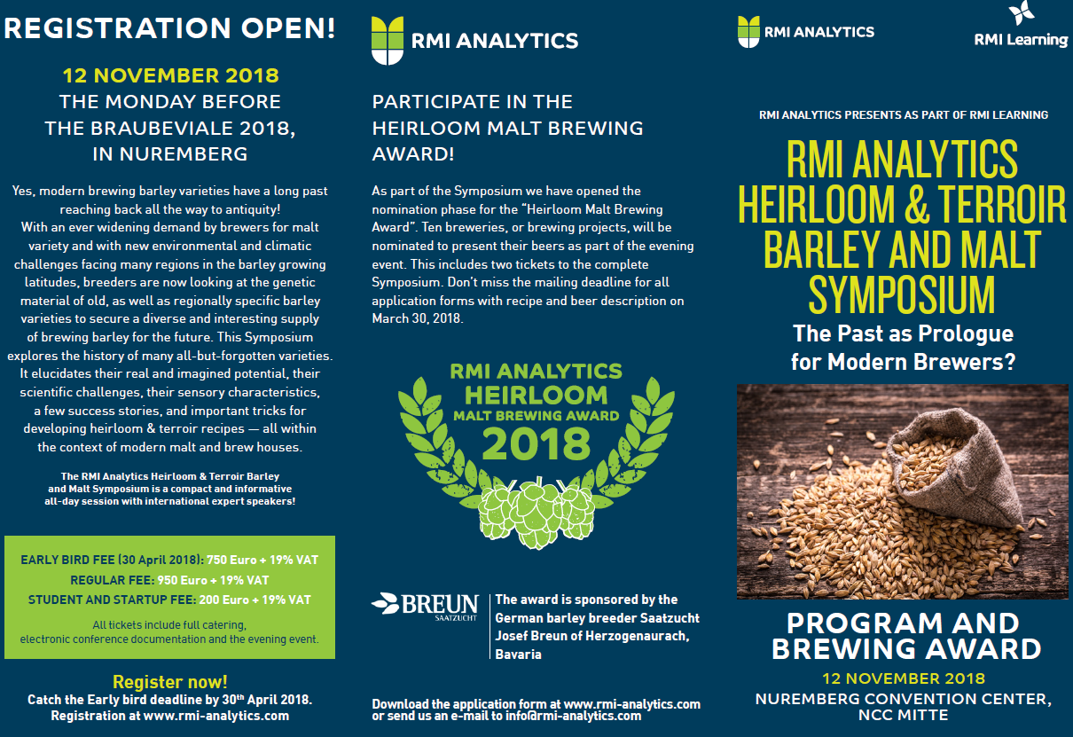 Heirloom Malt Symposium with Brewing Award - Germany (Nürnberg)